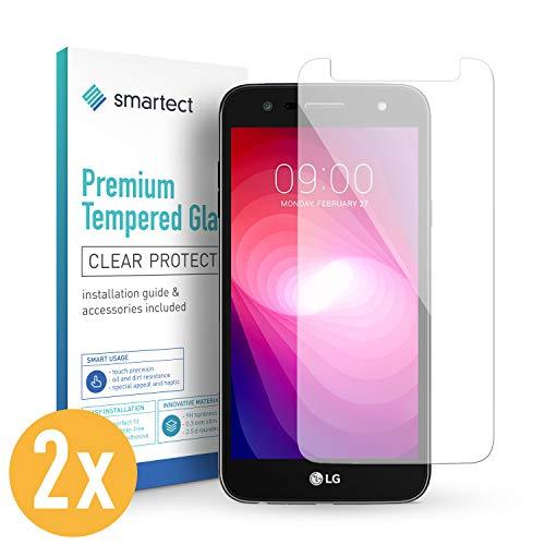smartect Panzerglas kompatibel mit LG X Power 2 [2 Stück] - Bildschirmschutz mit 9H Festigkeit - Blasenfreie Schutzfolie - Anti Fingerprint Panzerglasfolie