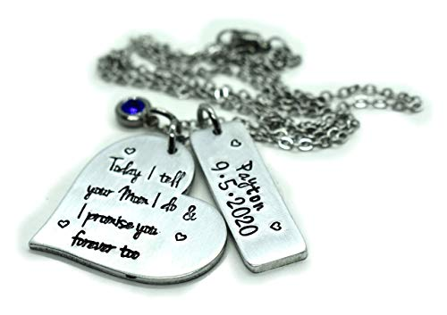 Personalized Stepdaughter Gift Jewelry, Wedding gift for Stepdaughter, From Step parent Family Unity, Wedding and name Date From Mom or Dad