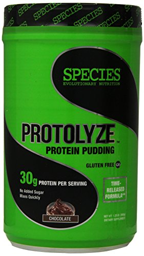 Species Nutrition Protolyze Protein Pudding, 30 Grams of Muscle Building Protein Powder, Low Calorie & Carb, Zero Sugar, Chocolate