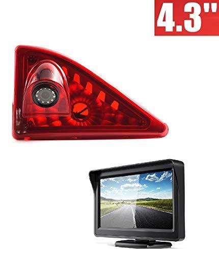 3RD Bremslicht Rückfahrkamera Rückfahrkamera mit 4,3 Zoll LCD Monitor Kits für Transporter Opel Movano B + Nissan NV400 + Renault Master III 2010-2019