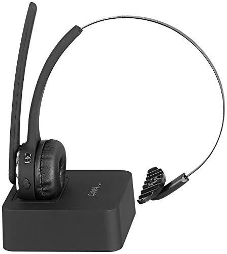 Callstel Telefon Headset: Profi-Mono-Headset mit Bluetooth, Geräuschunterdrückung, 15-Std.-Akku (Headset kabellos)