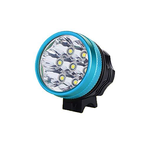 Grupo de luces de bicicleta con carga USB LED súper brillante - Faro - Impermeable - Linterna de luz fuerte - Faros de bicicleta con súper potentes lúmenes.-blue