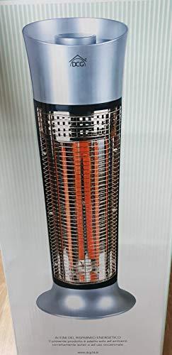 Stufa Elettrica al Carbonio Infrarossi 2 Elementi Max 900w Oscillante Dcg