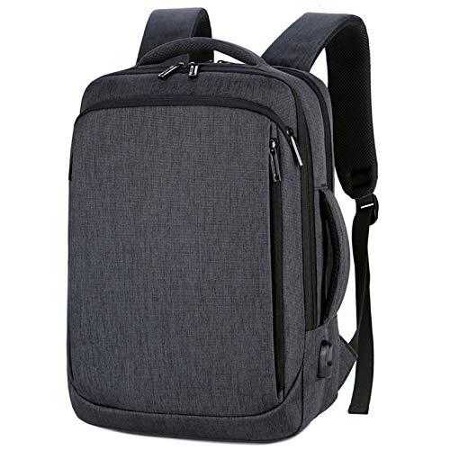 Travel Backpack, Convertible Increase Compartment Laptop Rucksack Business Laptop Rucksack - black - 11.81x4.72x16.53