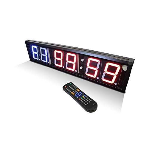 Digital Interval Wall Timer for Gyms, Sports Clubs, Schools (6 Digit) by Jordan Fitness