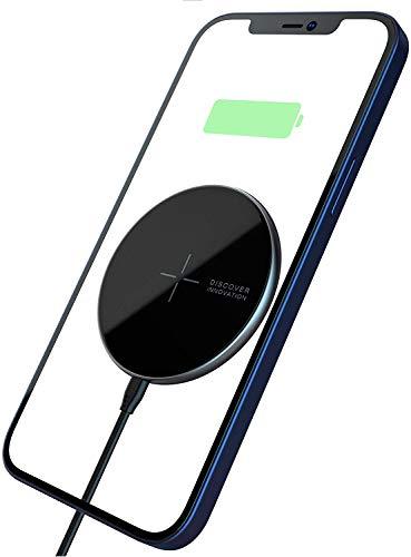 Nillkin MagSlim Caricabatterie Wireless Veloce, Magnetico Mag-Safe Pad di Ricarica Wireless Compatibile con iPhone 12 PRO Max / 12 PRO / 12/12 Mini, AirPods PRO