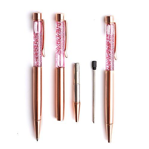 Liquid Sand Pen Ballpoint Pens 5 Pcs Metal Pen Refills Bling Dynamic Liquid Sand Pen Black Ink +10Pcs 2.75'' Ballpoint Pen Refills (5 Color) Photo #3
