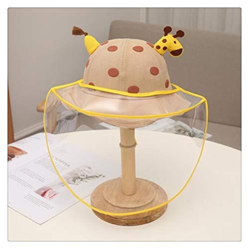 Hbao 2 en 1 Sombrero de Cubo de Verano para niños Escudo Protector Solar extraíble para niños Sombreros de bebé Dibujos Animados Lindos de Jirafa amigables con la Piel Nuevo