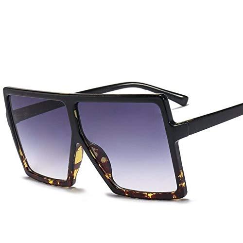 NJJX Gradient Shades Square Gafas De Sol Mujer Moda Gafas De Sol Mujer Negro Marrón Sombras Para Hombres Damas 1