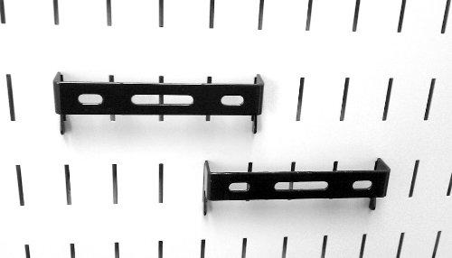 Wall Control Pegboard 1in x 4in C-Bracket Slotted Metal Pegboard Hook for Wall Control Pegboard and Slotted Tool Board – Black