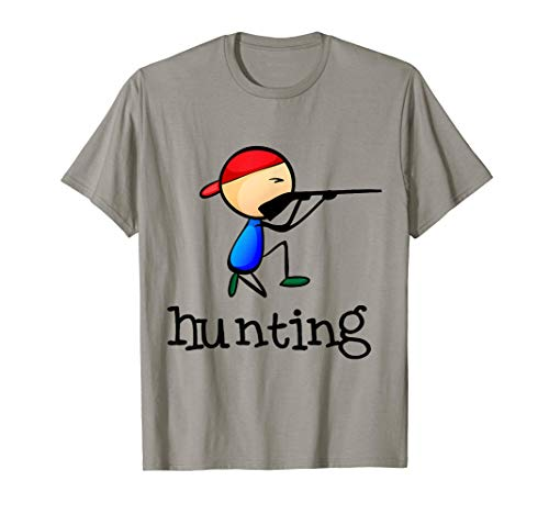 Hunting Stickman Field Sports Outdoors Games Hunter Hobby Camiseta