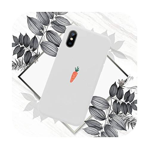 Funda para teléfono móvil con diseño de zanahoria, color caramelo para iPhone 11 12 mini Pro XS MAX 8 7 6 6S Plus X SE 2020 XR-a7-iPhone6 o 6s