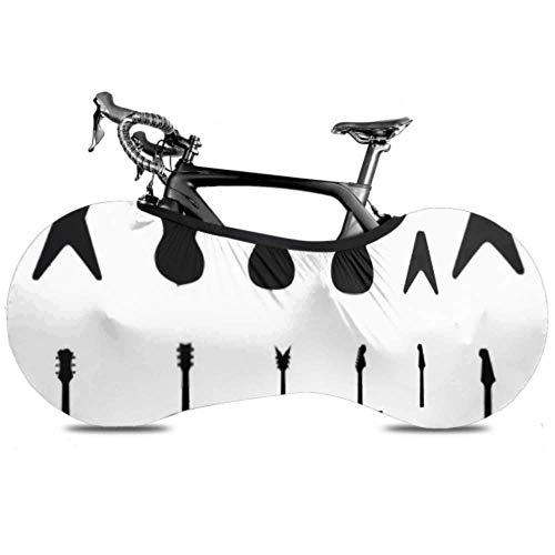 Conjunto de cubierta de rueda de bicicleta Guitarra Siluetas Guitarras eléctricas Acústica Antipolvo Bicicleta Bolsa de almacenamiento interior A prueba de arañazos, Lavable Neumático de alta elastic