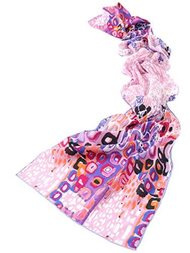 Prettystern prettystern Damen-Schal 100% Seide bunt Modern Kunst-Drucke Grafik Art mit Kunstdrucke - Violett lila P278