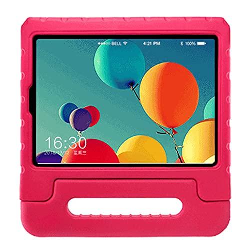 WEFH Funda Protectora con lengüeta para Tableta Eva portátil para niños para Samsung Galaxy 10.1', Rosa roja