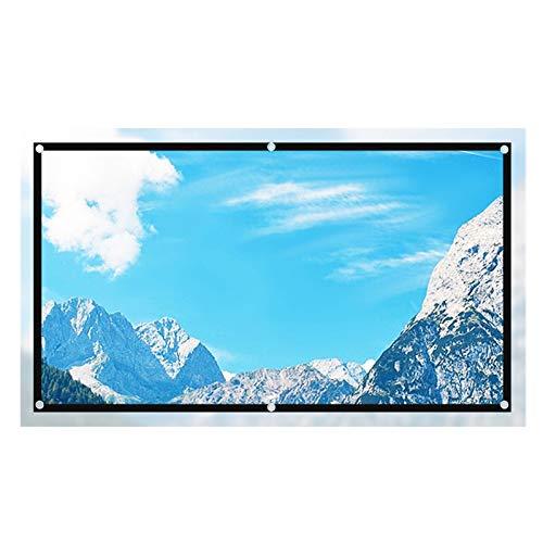 pantalla proyector EveryCom Pantalla de proyector Reflective Mejore Brillo 60 100 120 pulgadas de tela de tela Pantalla de proyección Portátil para todo proyector Portátil Projector Screen para Cine e