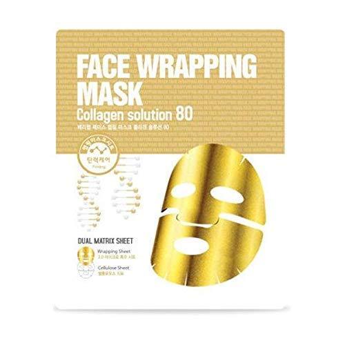Berrisom Face Wrapping Mask Collagen Solution 80 Mascarilla de Doble Capa Facial Efecto Sauna con Colageno - 27 ml