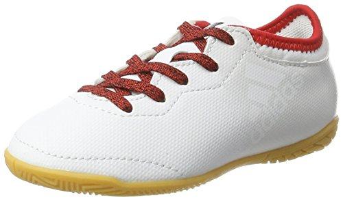 adidas Unisex-Kinder X Tango 16.3 In J Fußballschuhe, Weiß (FTW White/FTW White/Red), 28 EU