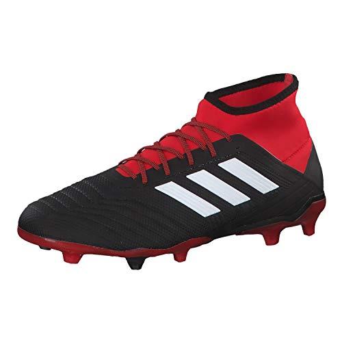 Adidas Predator 18.2 FG, Botas de fútbol para Hombre, Negro (Negbás/Ftwbla/Rojo 001), 44 EU