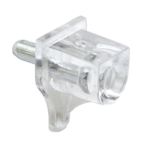 Prime-Line Products U 10156 Shelf Support Peg, 3mm, Clear,(Pack of 8)