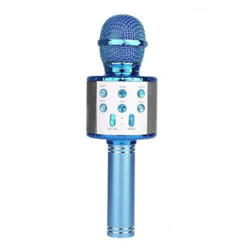 Micrófono de Karaoke Bluetooth inalámbrico, 3 en 1 portátil Portátil Karaoke Mic Multi-Function LED luz LED, para teléfonos móviles, computadoras de Escritorio, TV, etc, 1