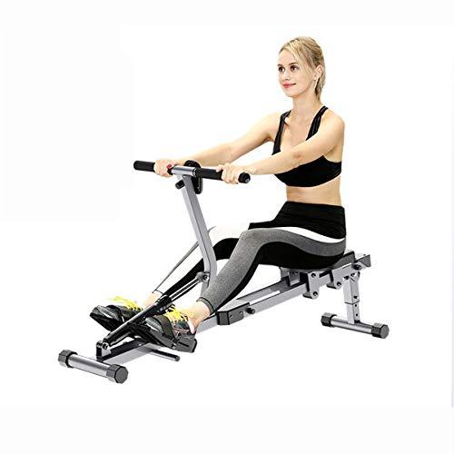 Lhlbgdz Faltbares Rudergerät für den Innenbereich mit 12 einstellbaren Fitnessgeräten für das Heim-Fitnessstudio Rowe Workout