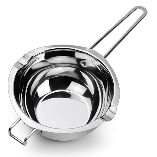 1000ML Upgrade Double Boiler Stainless Steel Melting Pot For Chocolate, Candle and Candy Making (34oz)