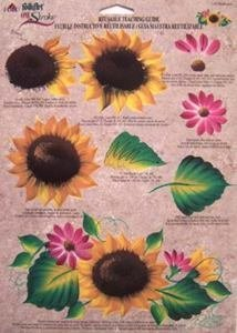 Folk Art One Stroke Reusable Teaching Guide-Sunflower
