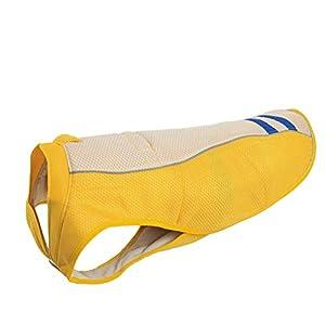 POPETPOP d'été pour Animal Domestique Chien Gilet de Refroidissement extérieur Crème Solaire Manteau empêcher Sunstroke pour Animal Domestique Habillement-Taille XL (Jaune)