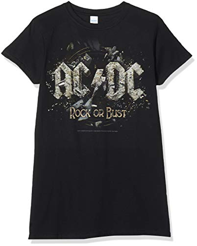 T-Shirt (Donna-L) - Rock Or Bust (Womens) New Release February