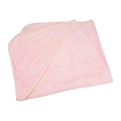 A&R Toallas A&R Toallas Babiezz - Toalla con Capucha para bebé (tamaño Mediano), Rosa Claro/Rosa Claro/Rosa Claro., One Size 75x75cm