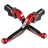 Motos Palancas de Embrague y Palanca de Freno para K1200R K1200S R1200GS K1300R K1300S K1600GT R1200R R1200S HP2 Enduro/Megamoto-Rojo+Negro+Rojo+Negro