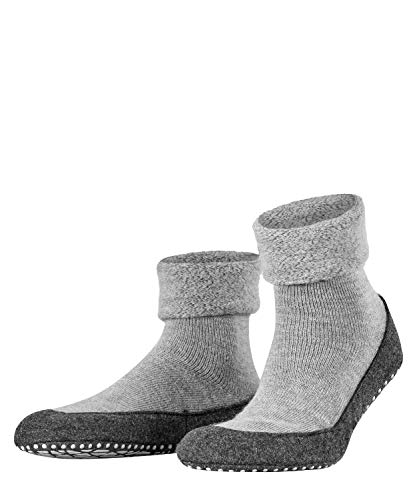 FALKE Herren Cosyshoe M HP Hausschuh-Socken, Blickdicht, Grau (Light Grey 3400), 45-46