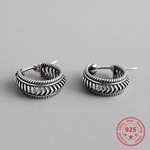 Do The Old Twisted Twist 925 - Pendientes de aro para mujer, diseño de lazo pequeño