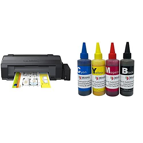 Epson Ecotank Et-14000, Impresora Color (Inyección De Tinta, con Tecnología Micro Piezo), Color Negro + Bramacartuchos 4 Botes De 100Ml De Tinta De Sublimacion. Compatible con Impresoras De 4 Colores
