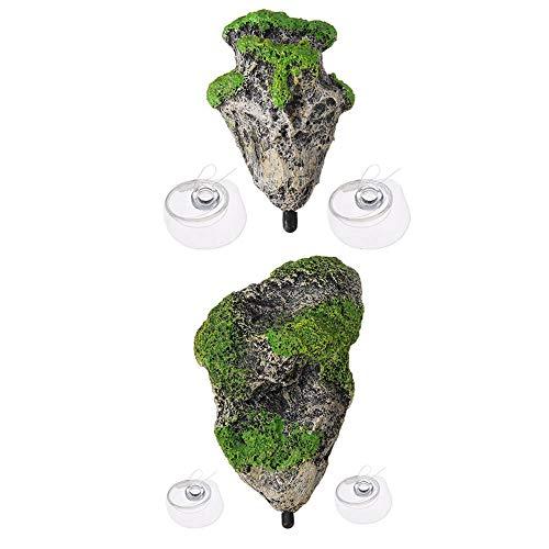 Raybre Art Schwimmende Felsen Ausgesetzt Stein Aquarium Unterwasser Landschaftsbau, S