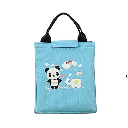 Bolsa TéRmica Para Llevar Comidas URIBAKY Lunch Isothermal Lunch Box Lindo Animal Print Botella De Comida PortáTil Nevera