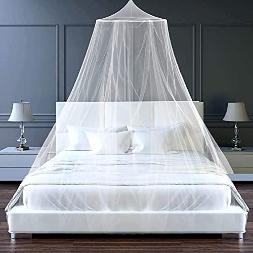 Zanzariera per letto matrimoniale, 1,2 x 1,5 m, zanzariera da letto, zanzariera pieghevole per letto, baldacchino, baldacchino doppio, zanzariera da viaggio, zanzariera da viaggio