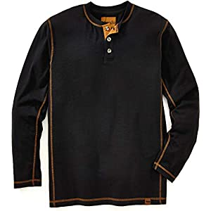 Henley Long Sleeve Shirts for Men – Mens Henley with Flex Material