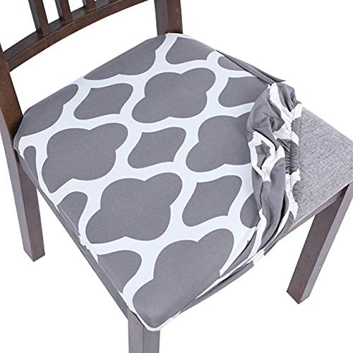 UKKO Cubiertas de silla Jacquard silla cubierta de asiento cojín de comedor extraíble anti-sucio amortiguador elástico protector de polvo lavable hogar muebles de cocina banquet-G277850