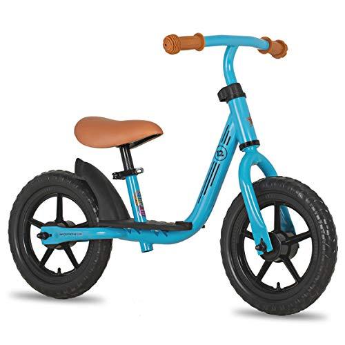 JOYSTAR 10 Inch Kids Balance Bike with Footrest for Child Girls 10' Glider Slider Bikes No Pedal Bicycle Training Bikes for 18 Months 2 3 4 Years Children Birthday Gifts Blue