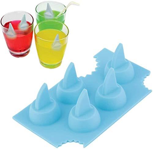 NOBRAND Enfriar Silicona IIceCube de Molde refrigerante en Forma de tiburón 3D IIceTray IIceCream Herramienta for el Verano la Barra del Partido de la Cocina
