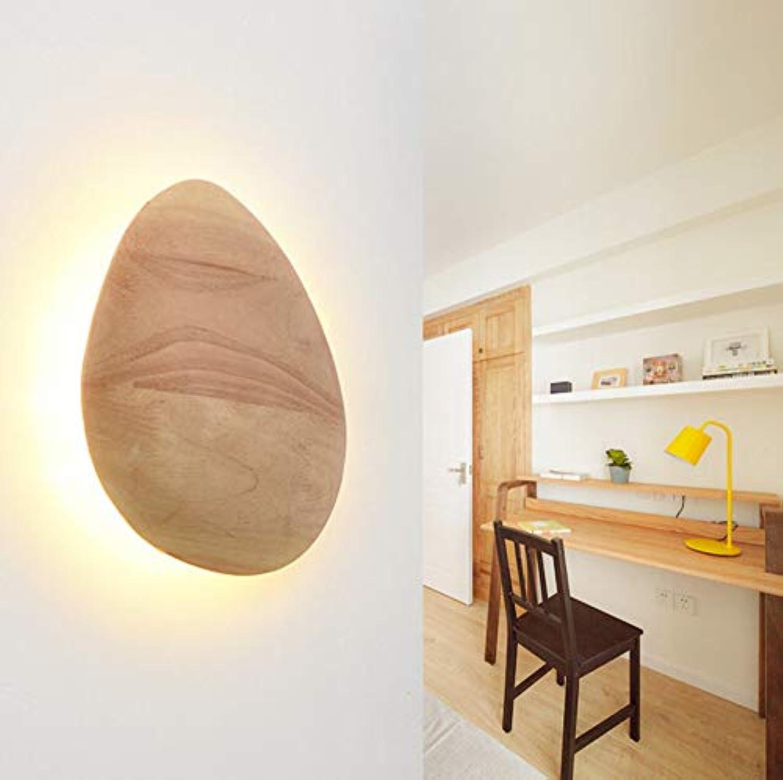 220 V Moderne Einfache LED Nachtwandleuchte Schlafzimmer Kreative Persnlichkeit Treppen Balkon Gang Massivholz Wandleuchte, Warmwei
