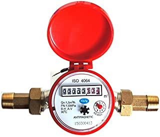 """Sponsored Ad – BFG Water meter flow House and Garden 1.5m3/h connectors 15mm 1/2"""" hot water"""