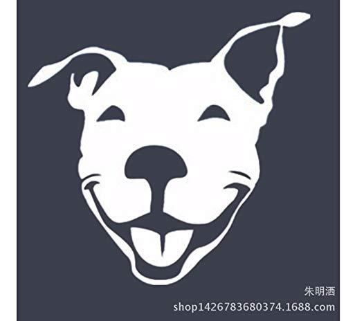 Autoaufkleber Aufkleber Fensteraufkleber Bullterrier-Haustierhund bullterrierdog amerikanischer Bullterrier-Haustierhund weiß