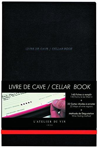 L'ATELIER DU VIN – Livre de Cave – 140 Fiches à Remplir – Méthode de Dégustation – Carte Viticole et Lexique du Vin