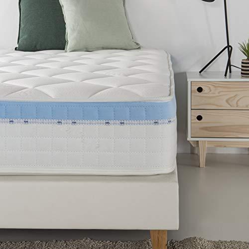 marckonfort Colchón Viscoelástico Gel Active 135 x 190 x 25 cm, 1 cm de Visco-Gel de 65 kg/m3 + Independencia de lechos + Firmeza: Media + Extremadamente Durable