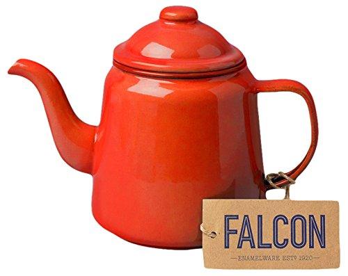 Genuine Falcon Enamelware Teapot (Pillarbox Red)