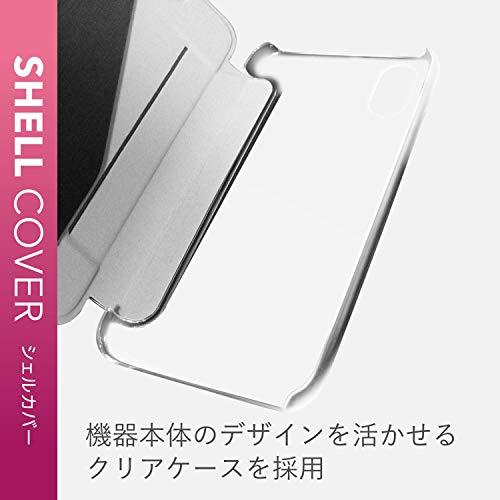 エレコムiPhoneXRケース手帳型ハードポリカーボネート素材極薄フラップ【傷がつきにくく、強くて丈夫】ブラックPM-A18CPVFBK