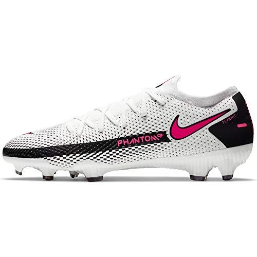 Nike Phantom GT Pro FG, Zapatillas de fútbol Hombre, Blanco, Rosa y Negro, 47.5 EU